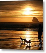 Reflections-peace At Sunset Metal Print
