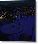 Reflections Table With A View Metal Print