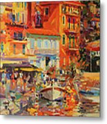 Reflections - Villefranche Metal Print by Peter Graham