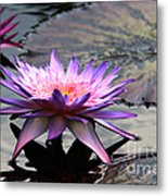 Dark Water Reflections Metal Print