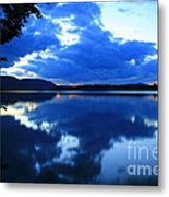 Reflective Blues On Lake Umbagog  Metal Print
