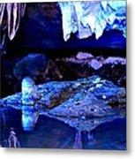 Reflective Cavern Metal Print