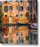 Reflective Moment In Venice Metal Print