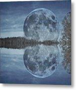 Reflective Paradise Metal Print