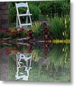 Reflective Thinking Metal Print