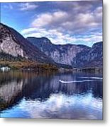 Reflectons Of Hallstatter See I Metal Print