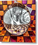 Refraction Of Reflection Metal Print
