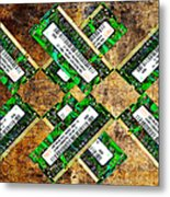 Refresh My Memory - Computer Memory Cards - Electronics - Abstract Metal Print