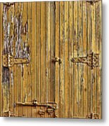 Refrigerated Boxcar Door Metal Print