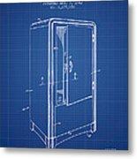 Refrigerator Patent From 1942 - Blueprint Metal Print
