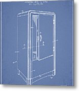 Refrigerator Patent From 1942 - Light Blue Metal Print