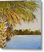 Refuge Palm Metal Print