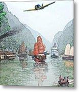 Refugees On The Yangtze Metal Print