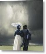 Regency Couple Metal Print