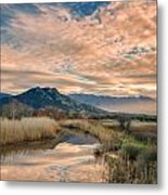 Reginu River And Punta Di Paraso Metal Print