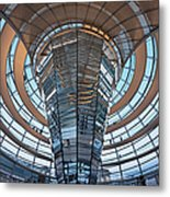 Reichstag, Dome At Dusk Metal Print