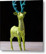 Reindeer Christmas Card Metal Print