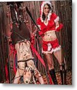 Reindeer Slay Metal Print