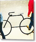 Relationship With A Bike Metal Print