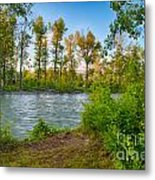 Relax By The Methow Rivers Edge Metal Print