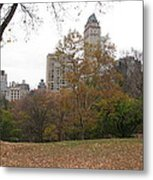Relax In Central Park Metal Print