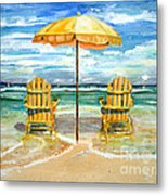 Relaxing At The Beach Metal Print by Chris Dreher