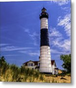 Relaxing By Big Sable Light Metal Print
