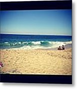 Relaxing Day At The Beach Metal Print