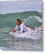 Relaxing In The Surf Metal Print