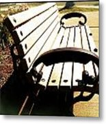 Relaxing On Campus Metal Print