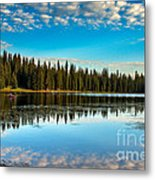 Relaxing On The Lake Metal Print