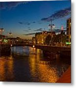 Relaxing On The River Metal Print