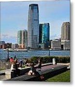Relaxing Weekend On New York Harbor Metal Print