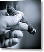 Relaxing With A Cigar Metal Print