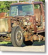Relic Behind The Gas Station Metal Print