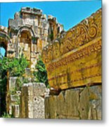 Relief In The Coutyard In Myra-turkey Metal Print