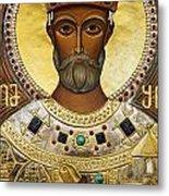 Religious Art Inside The Tsminda Sameba Cathedral Tbilisi Metal Print