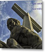 Religious Sculpture And Words Metal Print