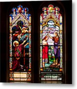 Religious Stained Windows Metal Print