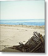 Remains Of Hurricane Sandy Metal Print