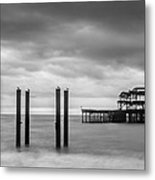 Remains Of The West Pier In Brighton Metal Print