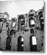 Remains Of Tiered Arches Of The Old Roman Colloseum At El Jem Tunisia Metal Print