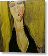 Sophisticated Lady With The Dreamy Eyes Metal Print