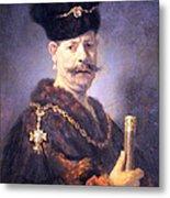 Rembrandt's A Polish Nobleman Metal Print