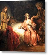 Rembrandt's Joseph Accused By Potiphar's Wife Metal Print