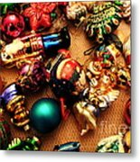 Remembering Cgristmases Past As You Trim This Years Tree. Metal Print