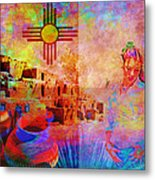 Remembering New Mexico Metal Print by M Montoya Alicea