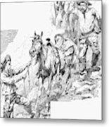 Remington Cowboys, 1887 Metal Print