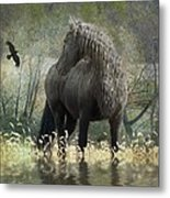 Remme and the Crow Metal Print