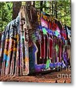 Remnants Of The Whister Train Wreck Metal Print